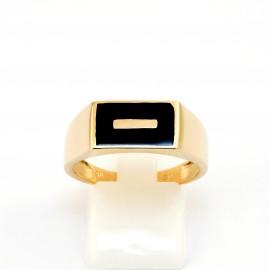Χρυσό ανδρικό δαχτυλίδι 14 καρατίων  03.0161