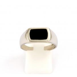Λευκόχρυσο ανδρικό δαχτυλίδι 14 καρατίων  03.0179