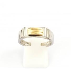 Λευκόχρυσο ανδρικό δαχτυλίδι 14 καρατίων  03.0180