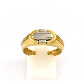 Χρυσό ανδρικό δαχτυλίδι 14 καρατίων  03.0185