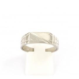 Λευκόχρυσο ανδρικό δαχτυλίδι 14 καρατίων  03.0186
