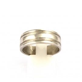 Λευκόχρυσο ανδρικό δαχτυλίδι 14 καρατίων  03.0187