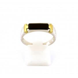 Λευκόχρυσο ανδρικό δαχτυλίδι 14 καρατίων  03.3525
