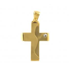 Χρυσός σταυρός  14 καρατίων    01.0255