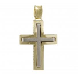 Χρυσός σταυρός  14 καρατίων δύο όψεων    01.0262