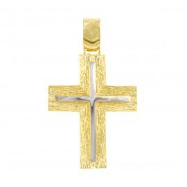 Χρυσός σταυρός  14 καρατίων   01.0274