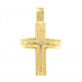 Χρυσός σταυρός  14 καρατίων    01.0283