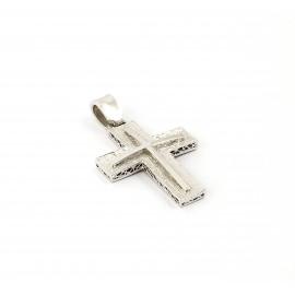 Λευκόχρυσος σταυρός 14 καρατίων   01.0275