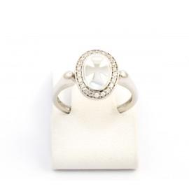 Λευκόχρυσο δαχτυλίδι 14 καρατίων  06.02.04