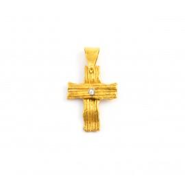 Χειροποίητος  σταυρός 14 καρατίων  08.0047
