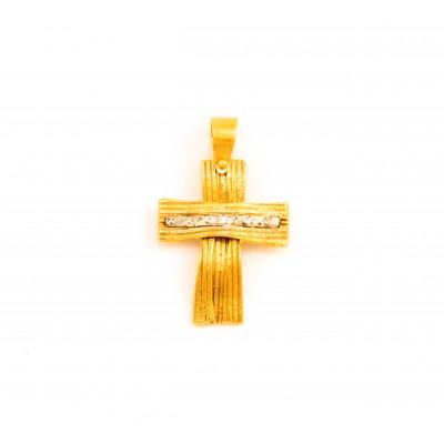 Χειροποίητος σταυρός  14 καρατίων    08.0048