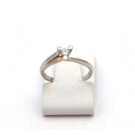 Λευκόχρυσο δαχτυλίδι Κ18 με brilliant  15.02.001