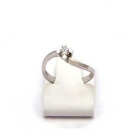 Λευκόχρυσο δαχτυλίδι Κ18 με brilliant  15.02.004