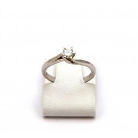 Λευκόχρυσο δαχτυλίδι Κ18 με brilliant  διαμάντι 15.02.006