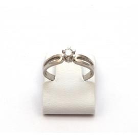 Λευκόχρυσο δαχτυλίδι Κ18 με brilliant  διαμάντι 15.02.007