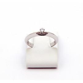 Λευκόχρυσο δαχτυλίδι Κ18 με brilliant  διαμάντι 15.09.005