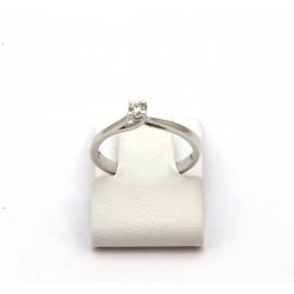 Λευκόχρυσο δαχτυλίδι Κ18 με brilliant  διαμάντι 15.09.008