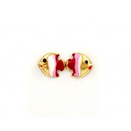 Παιδικά χρυσά σκουλαρίκια 14 καρατίων 18.05.26