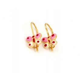 Παιδικά χρυσά σκουλαρίκια 14 καρατίων 18.05.30