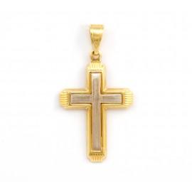 Δίχρωμος  σταυρός  14 καρατίων   21.05.003