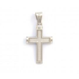 Λευκόχρυσος σταυρός 14 καρατίων  21.05.005