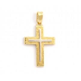 Χρυσός σταυρός  14 καρατίων δύο όψεων   21.01.004