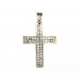 Λευκόχρυσος σταυρός 14 καρατίων  25.0355