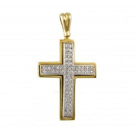 Δίχρωμος σταυρός  14 καρατίων    25.0364
