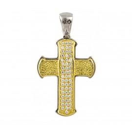 Δίχρωμος  σταυρός  14 καρατίων   25.0365