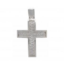 Λευκόχρυσος σταυρός 14 καρατίων  25.0369
