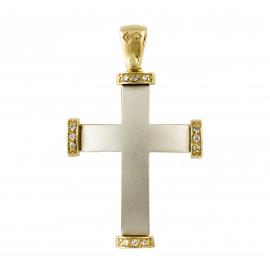 Δίχρωμος σταυρός 14 καρατίων  25.0397