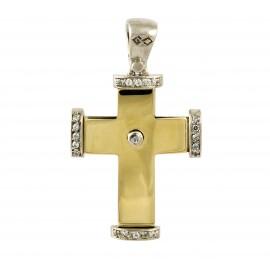 Δίχρωμος σταυρός 14 καρατίων    25.0398