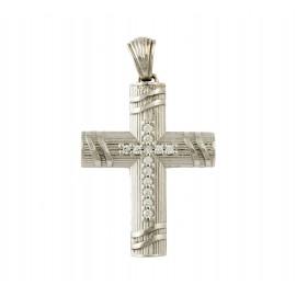 Λευκόχρυσος σταυρός 14 καρατίων  25.0399